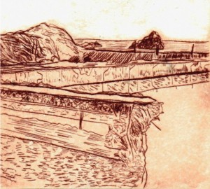 Drypoint with Akua water based ink